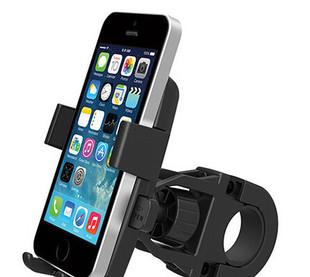 Bicycle mobile phone holder mobile phone seat navigation and fixed support mountain bike [double fixed mobile phone rack]