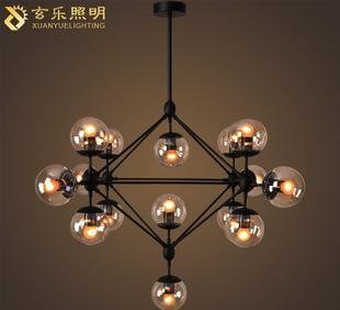 玄乐照明 北欧设计师魔豆灯客厅LED餐厅灯饰玻璃灯具;