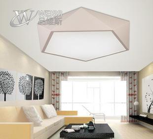 现代简约客厅亚力克创意角切割设计吸顶灯 家居照明调光灯具灯饰;