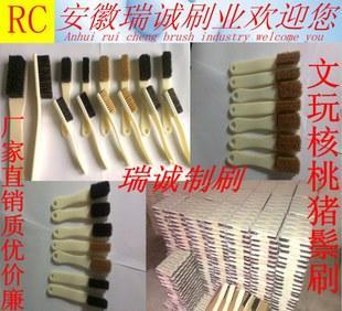 прямых производителей Аутентичные щетины орех кисти антиквариат коллекции чистой кисти смазать патина 4 рядами строка 6