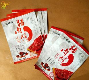 文沢包裝袋カスタム豚肉専門的なレジャー食品の袋のプラスチックフィルムファスナー袋