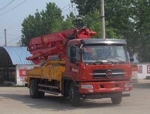 شاحنة مضخة الخرسانة بوم بوم 28 متر بقعة صغيرة مضخة مضخة الازدهار الكلي خلط الخرسانة شاحنة مضخة صغيرة