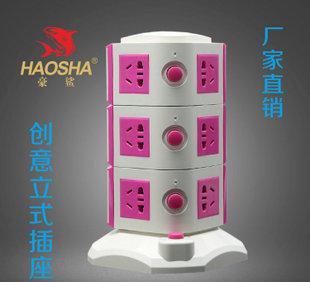 Professional wholesale creative power outlet creative vertical USB socket timer socket outlet price