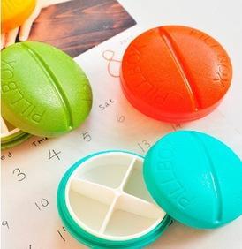HZCキャンディ色円形よんしよ格醫薬箱カスタムミニ攜帯一週間薬籠創意ガム薬籠