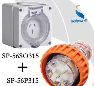 We sell industrial waterproof socket 56SO315 outdoor anstandard socket type waterproof industrial socket