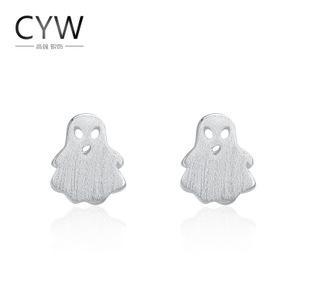 CYW 정품 S925 순은 귀걸이 패션 우물쭈물 만화 귀걸이 작은 청신하다 토보 터질 돈을