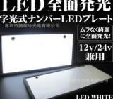 廠家直銷 EL冷光片白色車牌 led日本發光車牌 多顏色日本專用車牌;