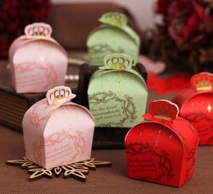 The wedding of the crown candy boxes personalized wedding candy packaging box creative wedding supplies