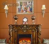 佛山家具高档雕刻欧式壁炉 实木雕花壁炉 壁炉实木美式装饰;