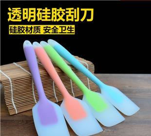 تاوباو بيع الجملة أدوات خبز سيليكون شفاف واحد ملعقة كبيرة زبدة مكشطة لون الصلبة