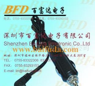 供应车载电器用品、点烟器车充线、点烟器两极电源插头;