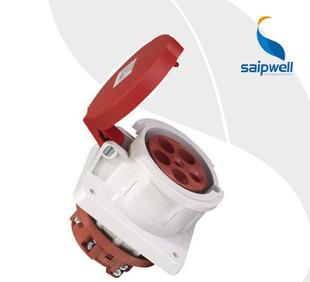 SP-1252 водонепроницаемая розетка для скрытой установки открытый водонепроницаемая розетка пять отверстий промышленных водонепроницаемая розетка 63а
