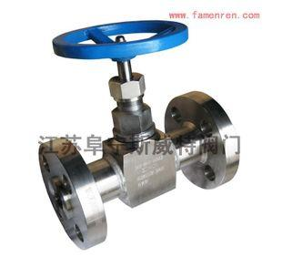 J43W-320P фланцевого типа игольчатый клапан высокого давления, кованая сталь типа игольчатый клапан фланец