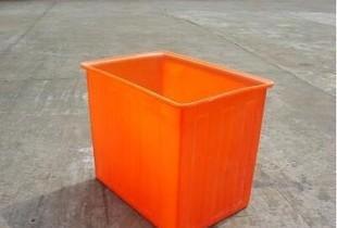 Manufacturers selling 300L orange plastic square barrel square box general plastic storage box can be customized plastic box