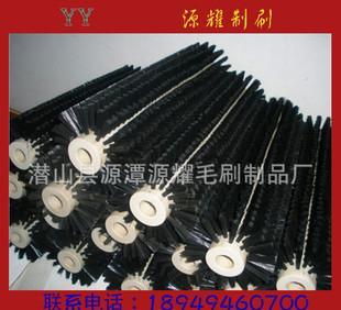 Yuanyao shaftless roller brush nylon brush supply of various types of customized black nylon brush roller brush