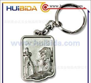 供应锌合金钥匙扣, 印刷滴胶徽章;