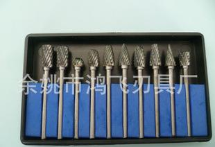 Direct manufacturers 3mm set 10 different types of tungsten carbide rotary burrs grinding head