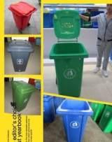 批发上海240L方形户外环卫塑料垃圾桶 江苏优质加厚塑料垃圾桶;