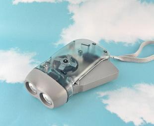 핸드 프레스 손전등 손전등 LED 없다. 전원 2LED 손 누르다 작은 손전등 손전등 선물 판촉