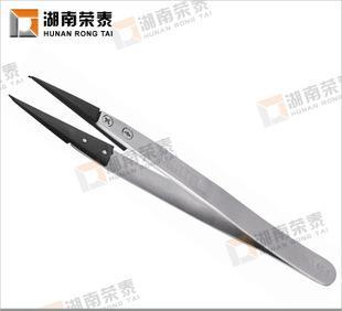 世达工具不锈钢防滑防静电精密镊子尖头03161
