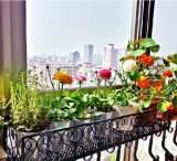 【厂家直销】铁艺栏杆花架户外阳台悬挂式护栏花几壁挂式花盆架;
