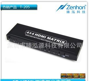 供应HDMI MATRIX 4*4真矩阵 HDMI4进4出矩阵 HDMI4X4矩阵分配器;