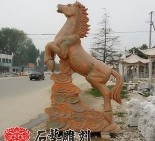 The production and processing of the twelve zodiac Pegasus sunset red granite carving twelve zodiac stone stone stone