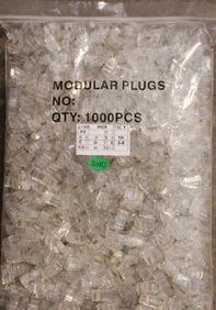 厂家批发 优质网络水晶头 镀金超五类 八芯8P8C RJ45网线水晶头;