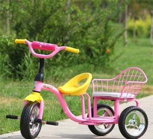 الأطفال دراجة ثلاثية العجلات دراجة المصنع مباشرة جديدة مزدوجة عربة الأطفال عربة
