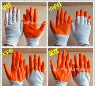 ди - ПВХ перчатки полуприцеп полностью висит ПВХ желтый клей висит резиновые перчатки рабочие перчатки дешевле погружения защитные перчатки
