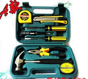热卖家用组合工具箱 车载五金工具 带榔头工具套装 工具礼品8009A;