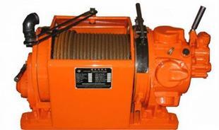 气动绞车工作原理 采用压缩空气为动力专门提升矿用设备;