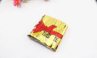 золотой стяжка бар лента уплотнения металлических полос окунуться в торт веревку подарок украшения флорист цветы упаковочных материалов оптом