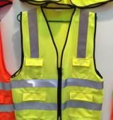 批发黄绿色反光背心马甲 交通安全服装个人防护工作服;