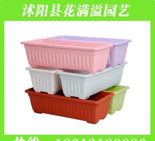 塑料加厚花盆容器 室内阳台种菜花盆容器厂家批发长方形花盆容器;