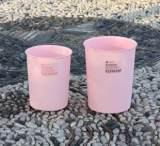 外贸粉色圆通形塑料垃圾桶创意时尚格纹卫生间客厅厨房家用废纸篓;