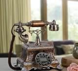 艾蒂斯专利 欧式 马赛克复古装饰古董固定座机 时尚创意仿古电话;