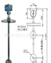 昌乐宏伟化工仪表专业生产→带远传捆绑式磁翻板液位计;