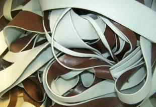 低価格在庫の環境保護の革の端の廃棄物処理pvc複合無紡布底はちじゅうトンの在庫整理中