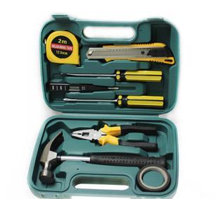 促销工具箱9件套 家用工具箱套装家用工具五金工具箱套装厂家直销;