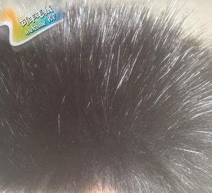 прямых производителей полноценный черный имитация лиса плюш искусственный мех воротник одежды фальшивые волосы