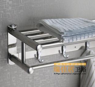 Supply engineering, stainless steel towel with hook plate polishing movable towel rack, bathroom hardware