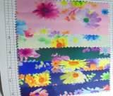 彩色鲜艳花纹 布料数码印花 面料装饰家私纺织品 花朵箱包布6300;