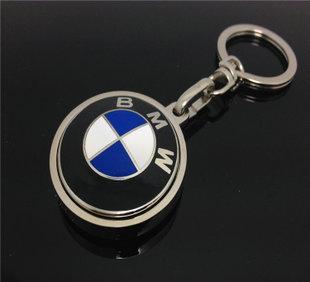 珐琅工艺宝马汽车车标钥匙扣 锌合金扣钥匙挂件 汽车赠品礼品定制;