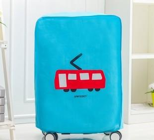 卡通交通工具高档加厚无纺布行李箱套 防水耐磨行李箱防尘罩;