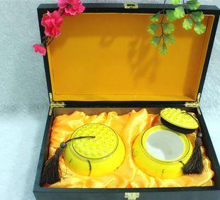 Fuk a heron lotus tea tea rose ceramic wooden jar wild black wolfberry box wholesale