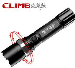 进口CREEq5 强光手电18650充电旋转变焦手电筒 远射家用防身手电;