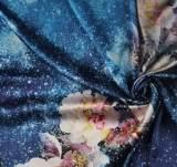 廠家批發桑蠶絲真絲服裝布料印花絲綢寬幅面料 活性數碼印花加工;