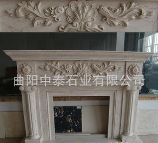 供給曲阳石彫刻大理石房山漢白玉ペーチカ小さな天使浮き彫りにかけて色暖炉