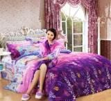 绣丽一方床上用品四件套 印花亲肤法兰绒四件套批发 时尚家纺被套;
